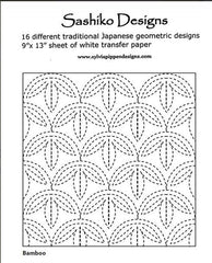 Sashiko Design Patterns - 16 Designs & Transfer Paper - Sylvia Pippen