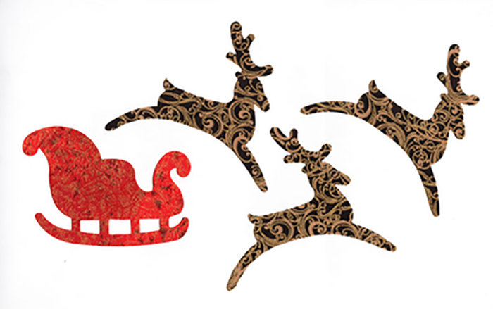 Fabric Fun Shapes - Santa Sleigh & Reindeer