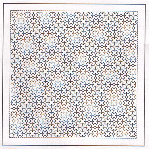 Sashiko Pre-printed Sampler - # 1024 Diagonal Crosses & Diamonds - White