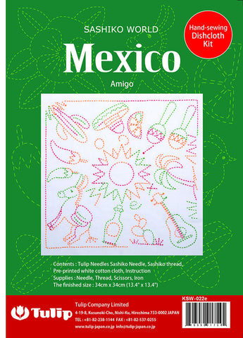 Sashiko World - Tulip Co - Mexico - Amigo - Sampler with Needle & Thread