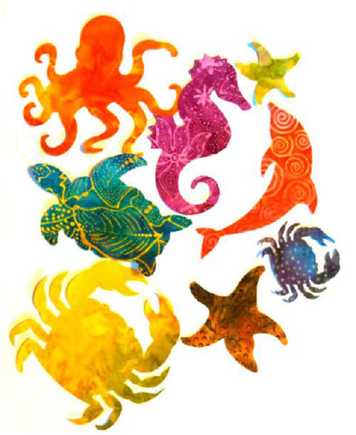 Fabric Fun Shapes - Sea Life - 8 Shape Multi-pack