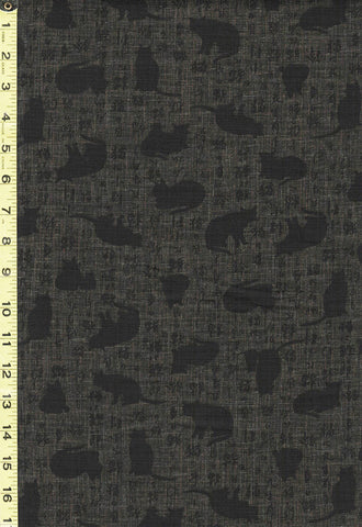 Japanese - Sevenberry Cat Shadows & Kanji - 850310-1-4 - Black