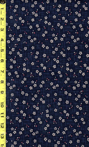 *Japanese Sevenberry - Kasuri Collection - Tiny Floating Cherry Blossoms - 88227D2-6 - Indigo