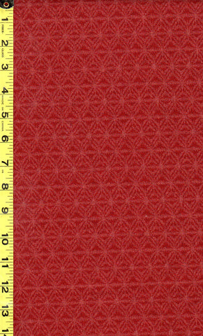 Japanese - Sevenberry Kasuri Collection - Asanoha-like Motif - SB-88229D3-2 - Brick Red