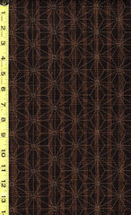 Japanese - Sevenberry Nara Homespun - Asanoha on Stripes - SB-88500D2-5 - Espresso