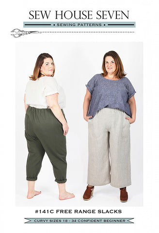 Wearables - Sew House Seven - Free Range Slacks - CURVEY STYLE