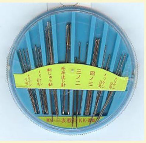 Notions - Japanese Needle Assortment - 30 Needles - Blue Carry Case