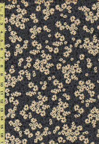 *Metallic - Shimmery Shadow Flowers - 9712P-12 - Black Gold