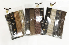 Kimono Treasures Silk Pack - 6 Pieces - Browns - Tan