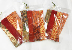 Silken Treasures Dragon Pack - 6 Pieces - Oranges