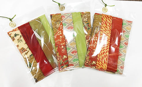 Silken Treasures Dragon Pack - 6 Pieces - Orange - Green Mix