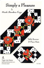 Placemat & Table Runner Pattern - Tiger Lily Press - Simply A Pleasure
