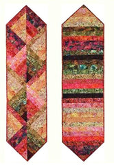 Table Runner Pattern - Plum Tree Quilts - Reversible Strippy Table Runner