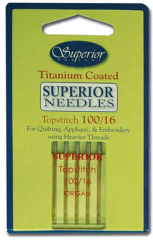 Notions - Titanium Sewing Machine Needles - 100/16
