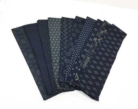 *Japanese Traditional Indigo Strips - 20 - 2 1/2