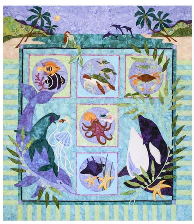 Quilt Pattern - Java House - Symphony At Sea - Complete Set
