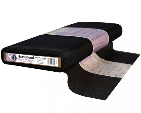 Interfacings & Stabilizers -  Heat n Bond - Ultra Soft Sheer Woven Fusible # 2506 - Black