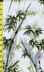 Asian - Bamboo Forest & Kanji - Soft Grey