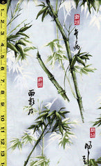 *Asian - Bamboo Forest & Kanji - Soft Grey