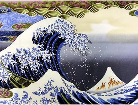 *Asian - Hokusai Wave - Blue - PANEL