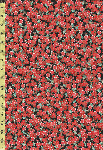 *Asian - KoKo Collection - Small Compact Cherry Blossoms - CM7877 - Red & Black