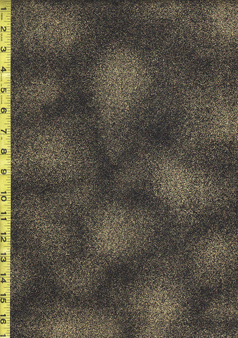 Metallic Fabric - Shimmer Black & Gold Metallic