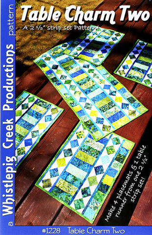 Placemat & Table Runner Pattern - Table Charm Two