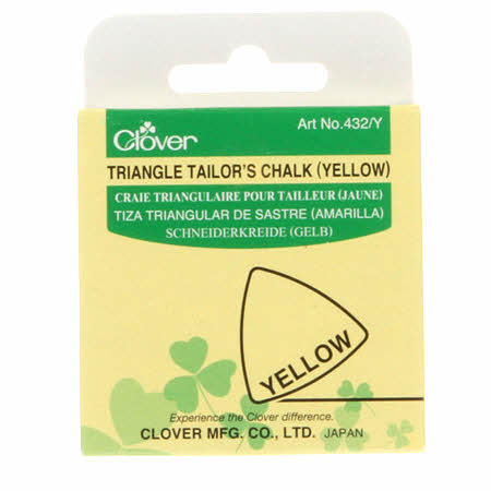 Notions - Clover Triangle Tailor's Chalk - Yellow