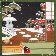Furoshiki  - Tama Cat and Snowy Night