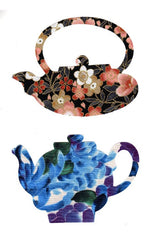 Fabric Fun Shapes - Asian Teapots - Large