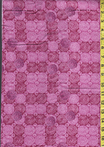 Blender-Coordinate - Tonal Medallions - Dark Pink - Last 2 1/4 yards