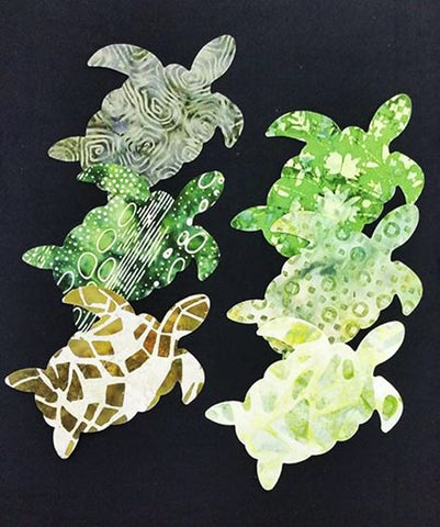 Fabric Fun Shapes - Sea Life - Turtles - Au Naturel