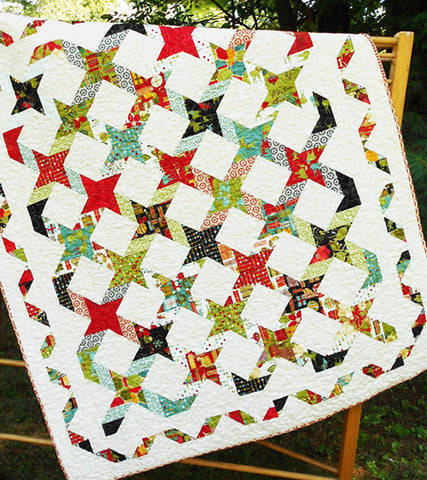 Quilt Pattern & Table Runner - Little Louise Designs - Twisting With The Stars
