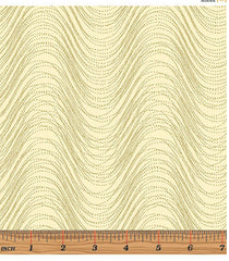 Metallic Mixer - Cream & Gold Metallic - Rippled Wave