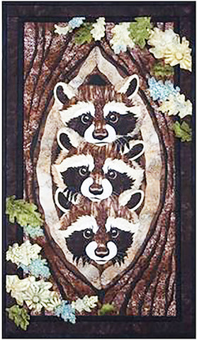 Quilt Pattern - Toni Whitney Design - Who, What, Where (Racoons)