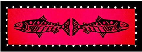 Quit Pattern & Table Runner - Quilts With A Twist - Wild Alaska Salmon - Red & Black