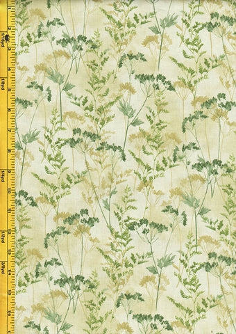 Floral Fabric - Neutral Nature Wildflowers