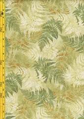 *Floral Fabric - Neutral Nature Ferns