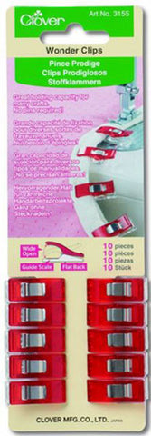 Notions - Clover Wonder Clips - #3155 - 10 Pkg