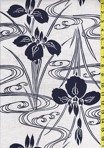 Yukata Fabric - Y02 - Iris & River Swirls