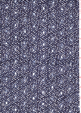 Yukata Fabric - 045 - Hexagon Basketweave