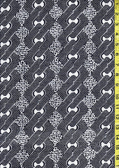 Yukata Fabric - 011 - Bow Ties, Diamonds, Interlocking Chain