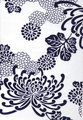 Yukata Fabric - 019 - Large Spider Mums - White