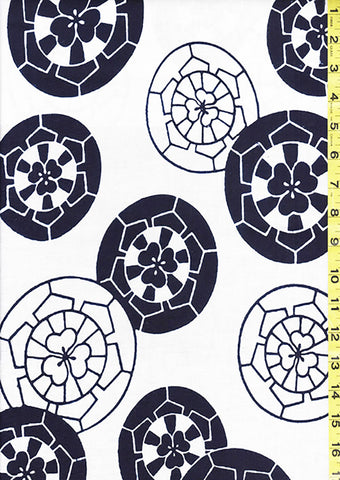 Yukata Fabric - 031 - Sakura Wheels