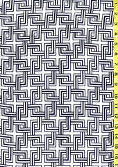 Yukata Fabric - 043 - Interlocking Celtic Squares
