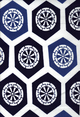 Yukata Fabric - 077 - Hexagon Wheels