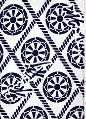 Yukata Fabric - 082 - Wheels in Diamonds with Abstract Kanji