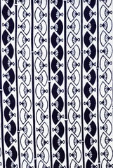 Yukata Fabric - 083 - Fan Columns - White