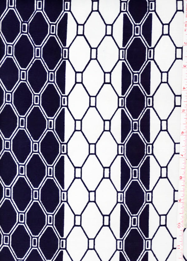 Yukata Fabric - 089 - Honeycomb Columns