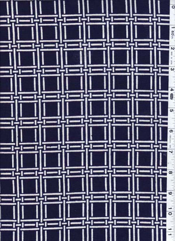 Yukata Fabric - 098 - Interlocking Bars